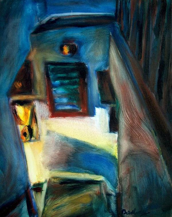 Dornberg Art Print featuring the painting Shadows On The Down Stairs by Bob Dornberg