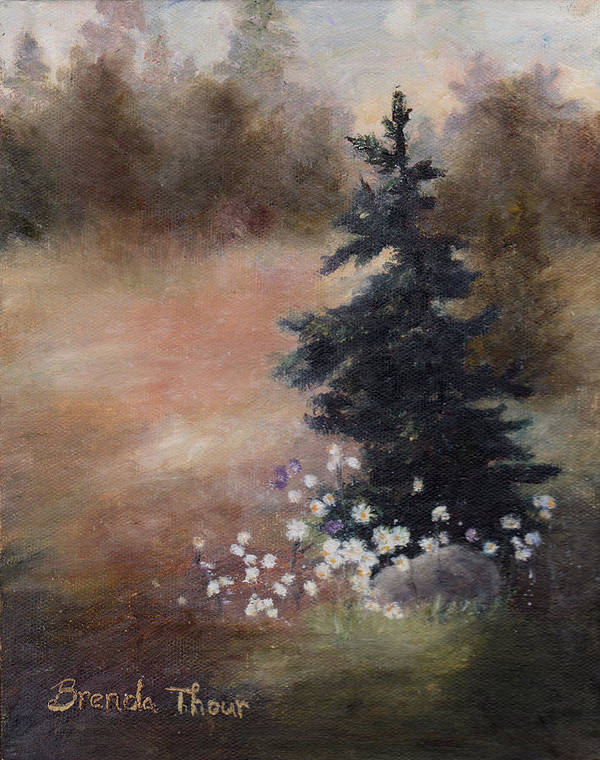 Pine Art Print featuring the painting Simplicity by Brenda Thour