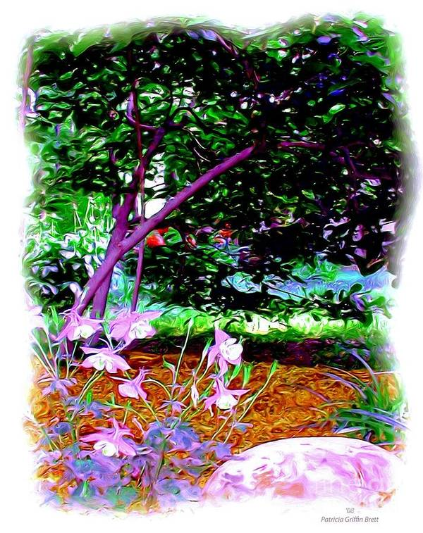 Fine Art Art Print featuring the painting Sitting In The Shade by Patricia Griffin Brett