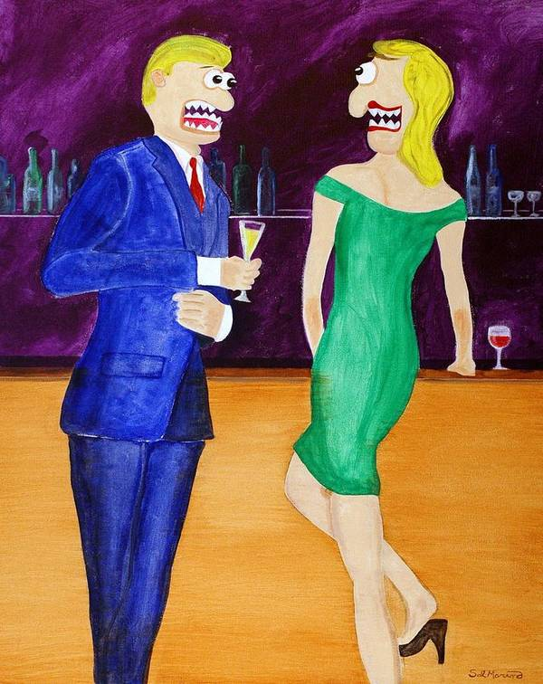 Funism Art Print featuring the painting Small Talk by Sal Marino
