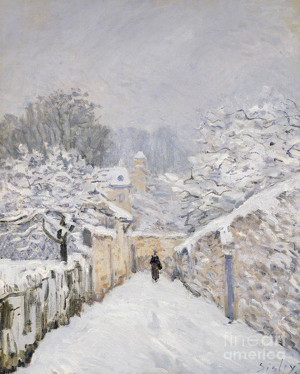 Snow Art Print featuring the painting Snow At Louveciennes by Alfred Sisley