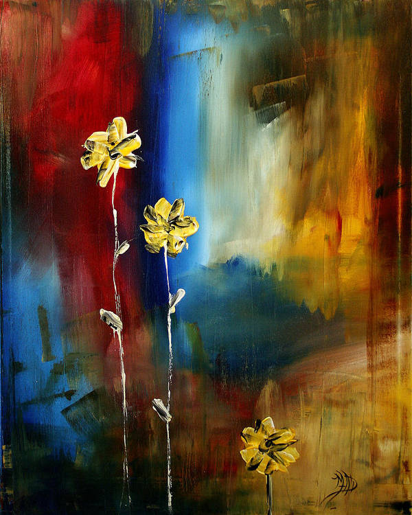 Wall Art Print featuring the painting Soft Touch by Megan Duncanson