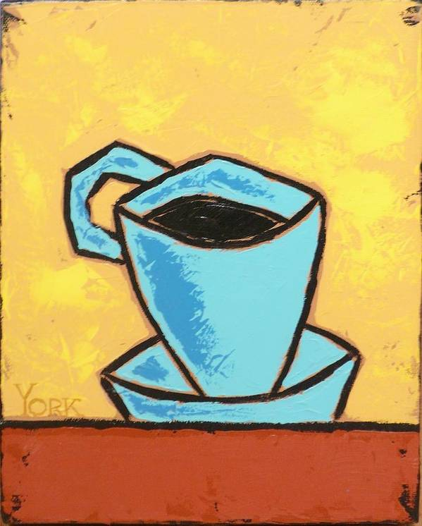 Coffee Art Print featuring the painting Solo Coffee I by Ron York