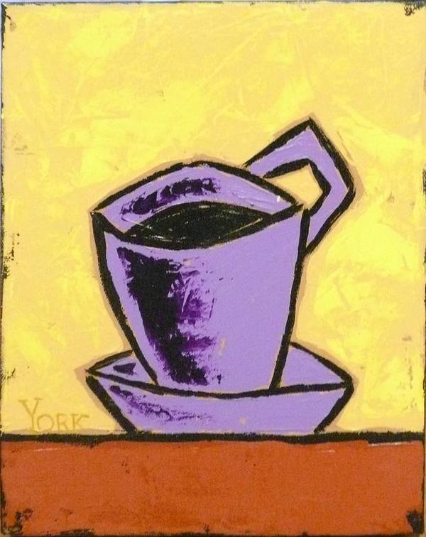 Coffee Art Print featuring the painting Solo Coffee IIi by Ron York
