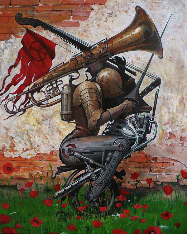 Music Art Print featuring the painting Song Instead Of A Kiss by Adrian Borda