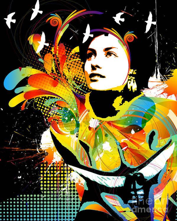 Nostalgic Seduction Art Print featuring the digital art Soul Explosion II by Chris Andruskiewicz