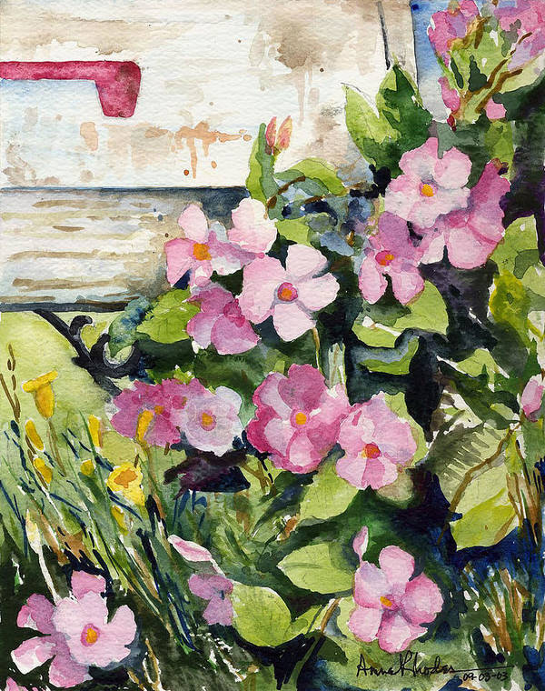 Floral Art Print featuring the painting Special Delivery by Anne Rhodes