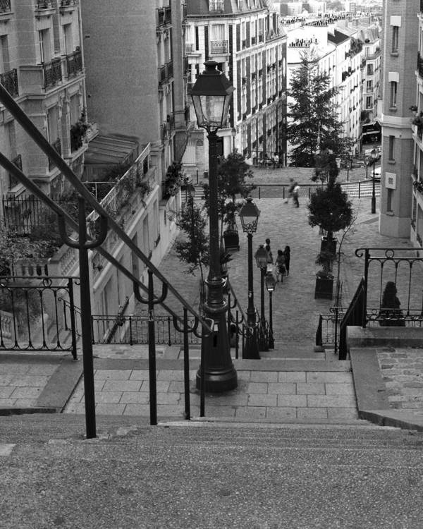 Stairs Art Print featuring the photograph Stairway On Montmartre by Greg Matchick