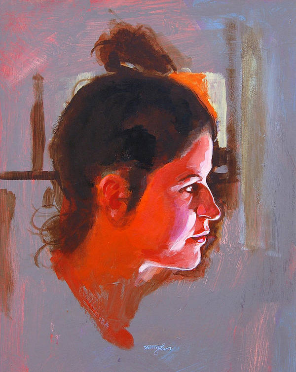 Portrait Art Print featuring the painting Stephanie by John Tartaglione