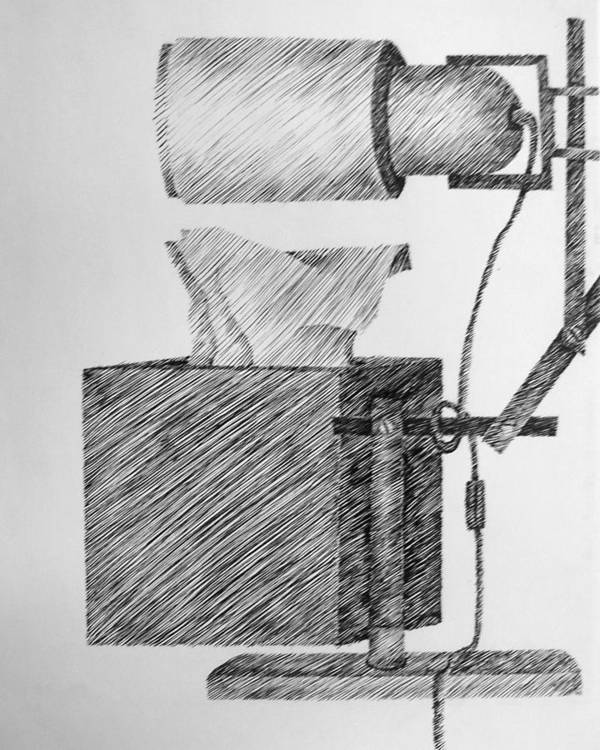 Still Life Art Print featuring the drawing Still Life With Lamp And Tissues by Michelle Calkins