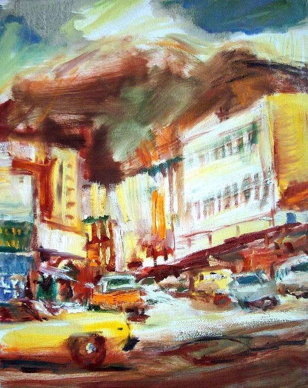 Dornberg Art Print featuring the painting Streets Of Juneau by Bob Dornberg
