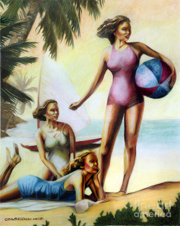 Tropical Art Art Print featuring the painting Summer Holiday by Mike Massengale