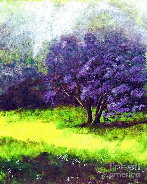 Fine Art Print Art Print featuring the painting Summer Mist by Patricia Griffin Brett