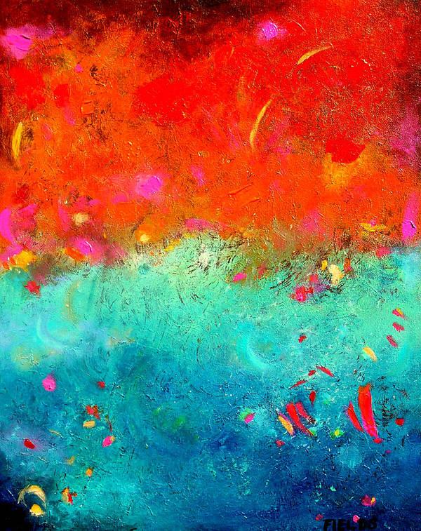 Bold Art Print featuring the painting Summer Sky by Karen Fields