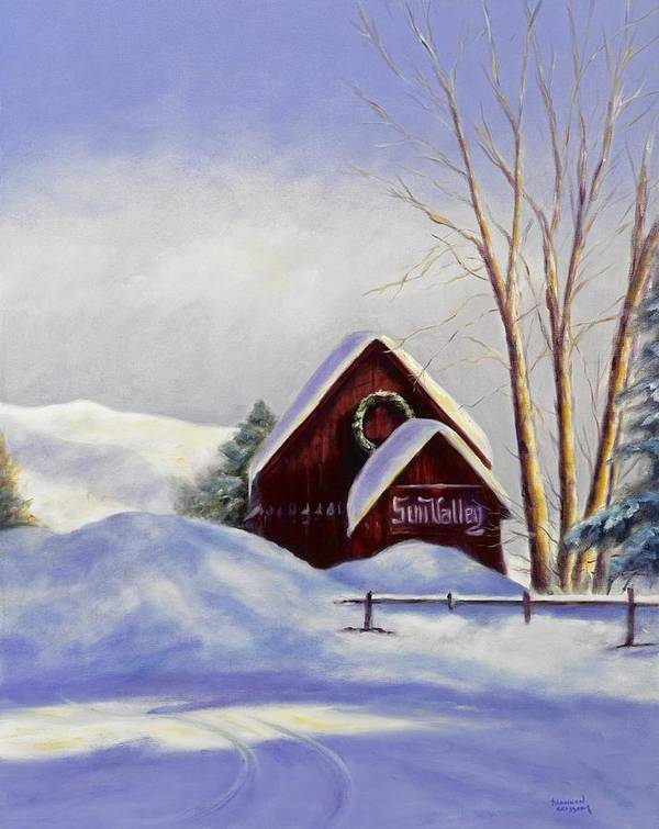 Landscape Art Print featuring the painting Sun Valley 2 by Shannon Grissom
