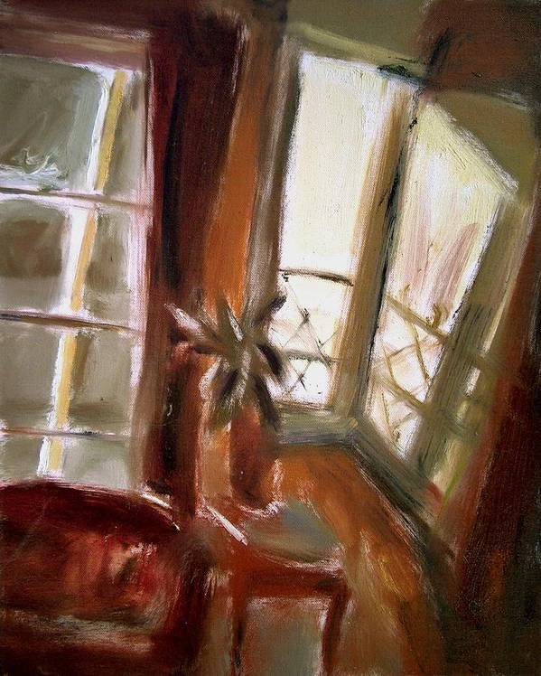 Dornberg Art Print featuring the painting Sunlight From The Front Porch by Bob Dornberg