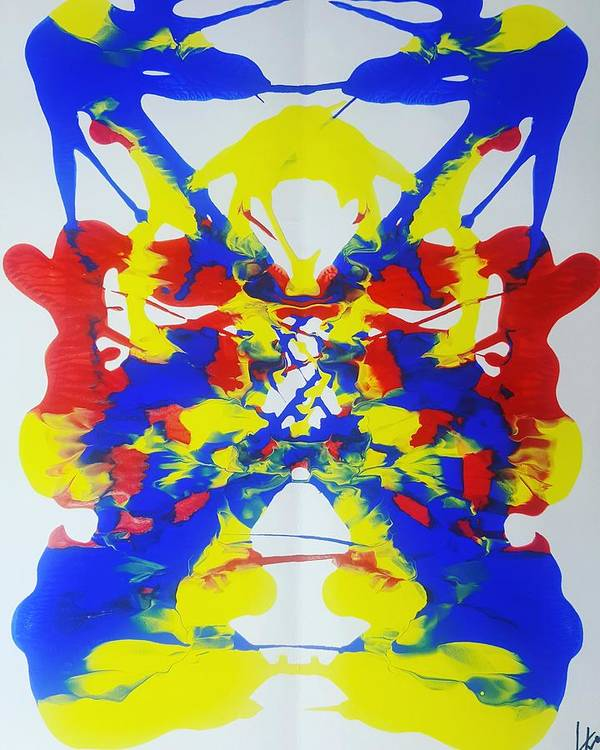Art Print featuring the painting Symmetry 25 by Keri Fuller