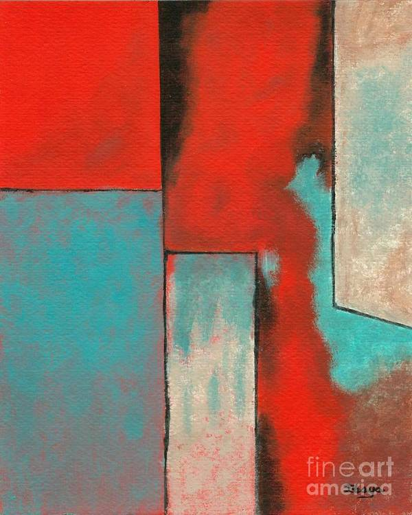 Abstract Art Print featuring the painting The Corners Of My Mind by Itaya Lightbourne
