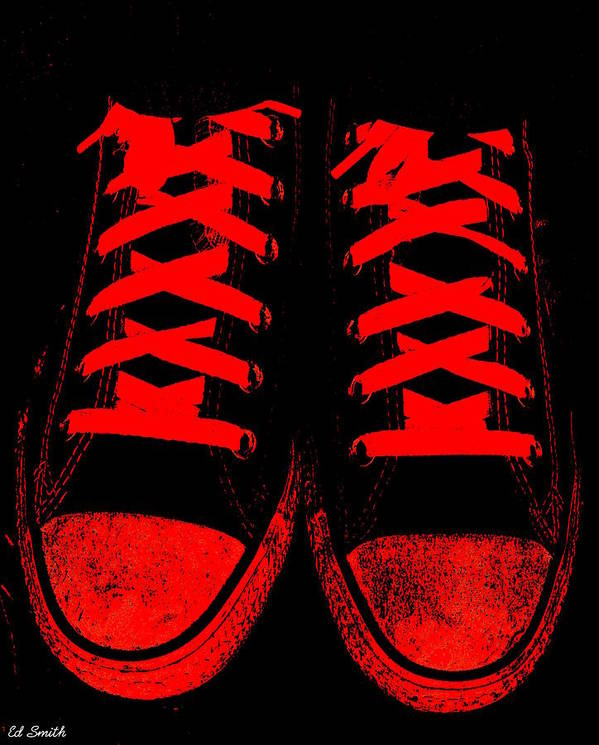 The Devil Wears Converse Art Print featuring the photograph The Devil Wears Converse by Ed Smith