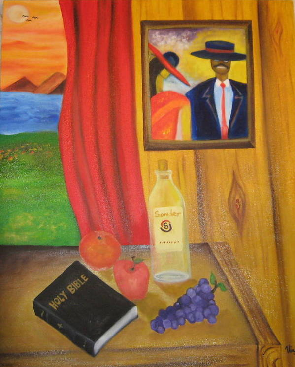 Art Print featuring the painting The Family Bible by Virgil Dublin