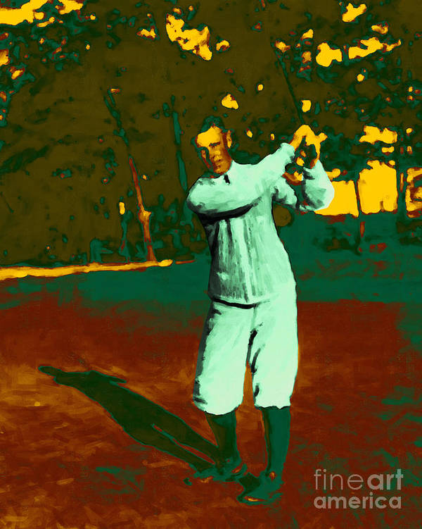 Sport Art Print featuring the photograph The Golfer - 20130208 by Wingsdomain Art and Photography