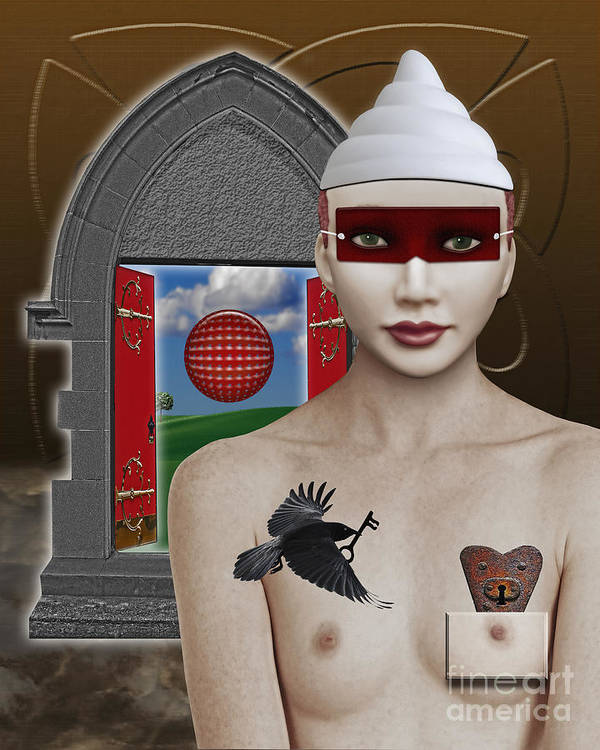 Surreal Art Print featuring the digital art The Lady In Waiting by Keith Dillon