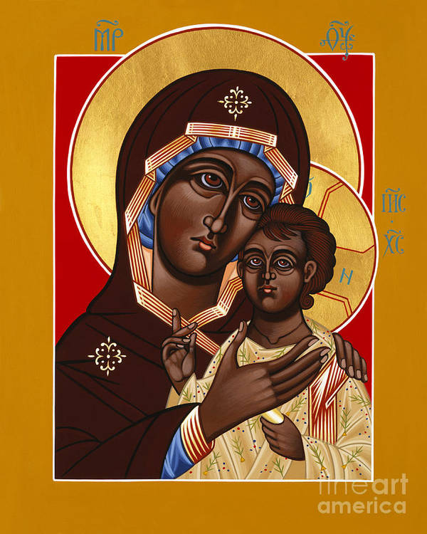 The Petrovskya Icon Art Print featuring the painting The Petrovskya Icon Of The Mother Of God 128 by William Hart McNichols