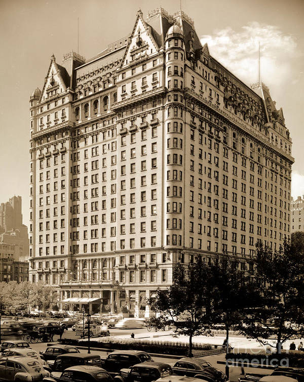 The Plaza Hotel Art Print featuring the photograph The Plaza Hotel by Henry Janeway Hardenbergh