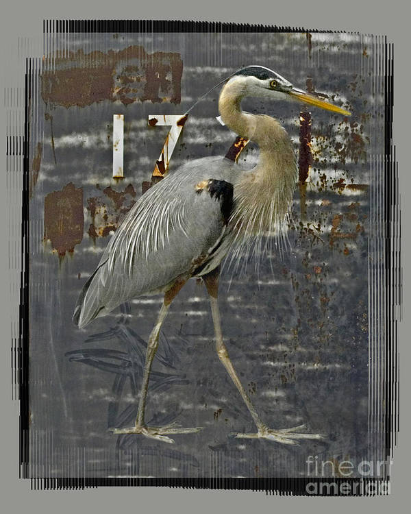 Bird Art Print featuring the digital art The Sentinel by Chuck Brittenham
