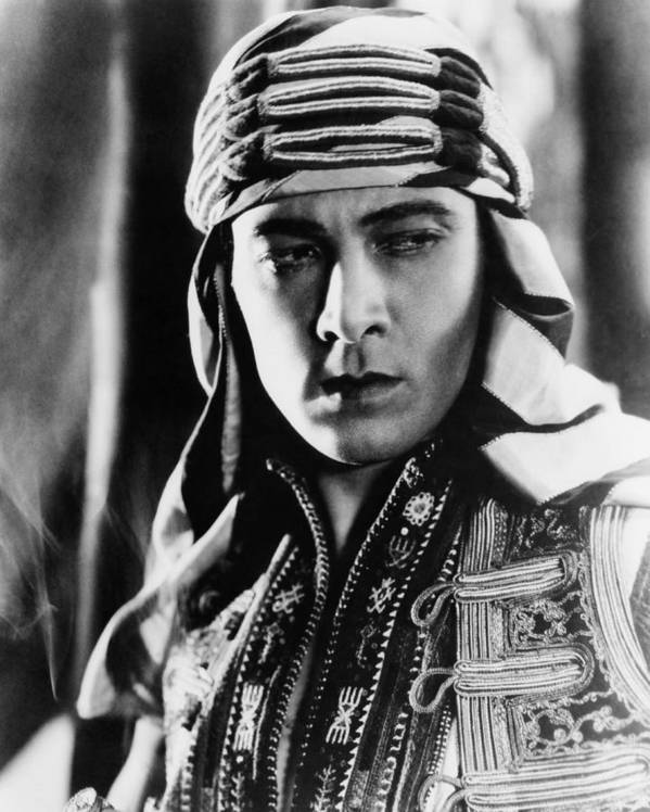 1920s Movies Art Print featuring the photograph The Sheik, Rudolph Valentino, 1921 by Everett