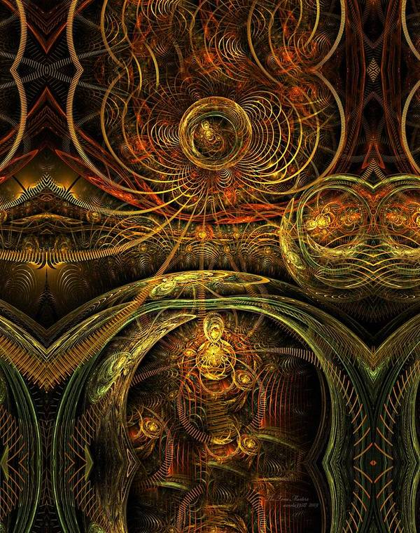 Fractal Art Print featuring the digital art The Time Masters by Gayle Odsather