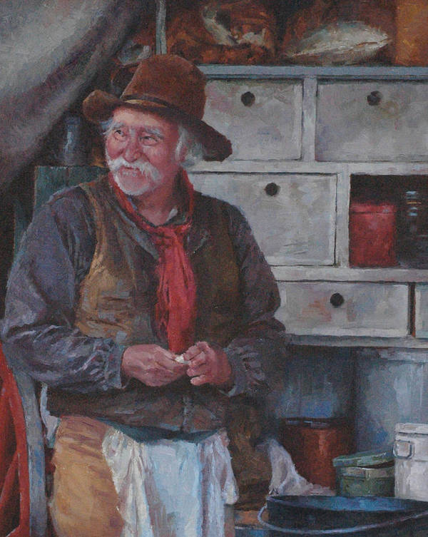 Western Art Print featuring the painting The Trail Chef by Jim Clements