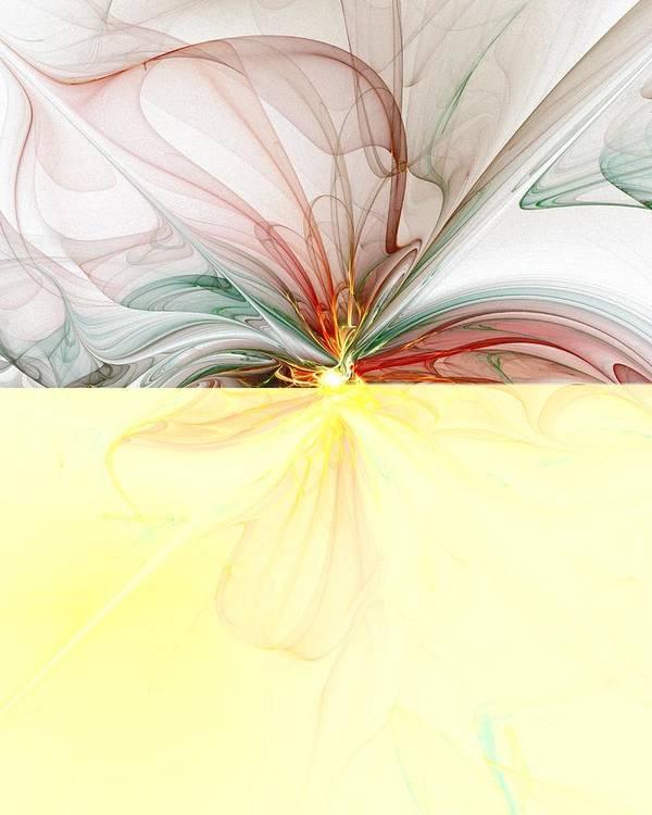 Digital Art Art Print featuring the digital art Tiger Lily by Amanda Moore