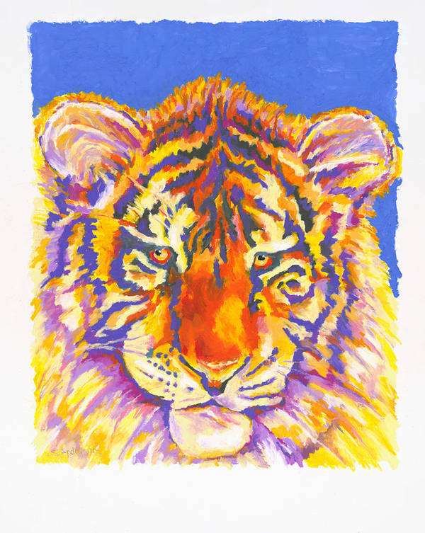 Tiger Art Print featuring the painting Tiger by Stephen Anderson