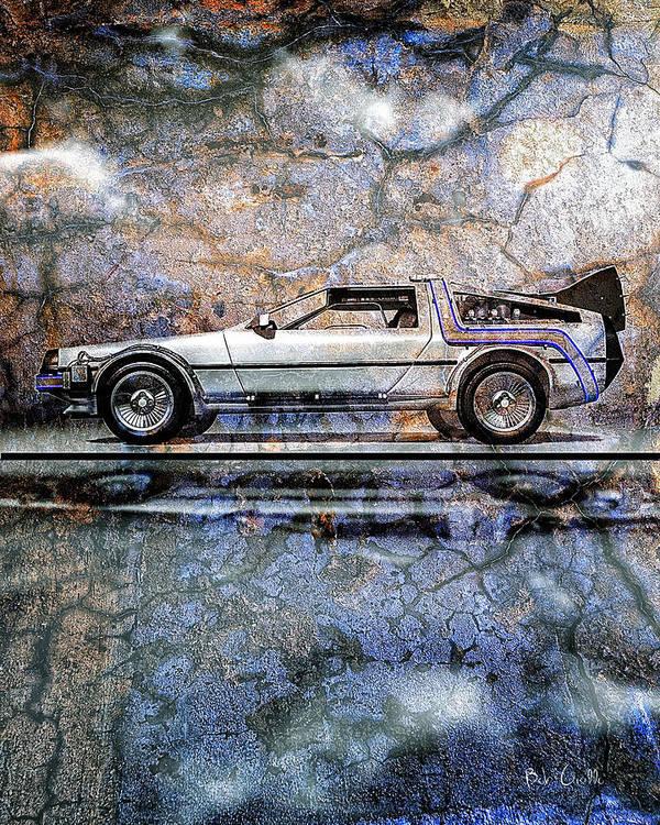 Back To The Future Art Print featuring the digital art Time Machine Or The Retrofitted Delorean Dmc-12 by Bob Orsillo