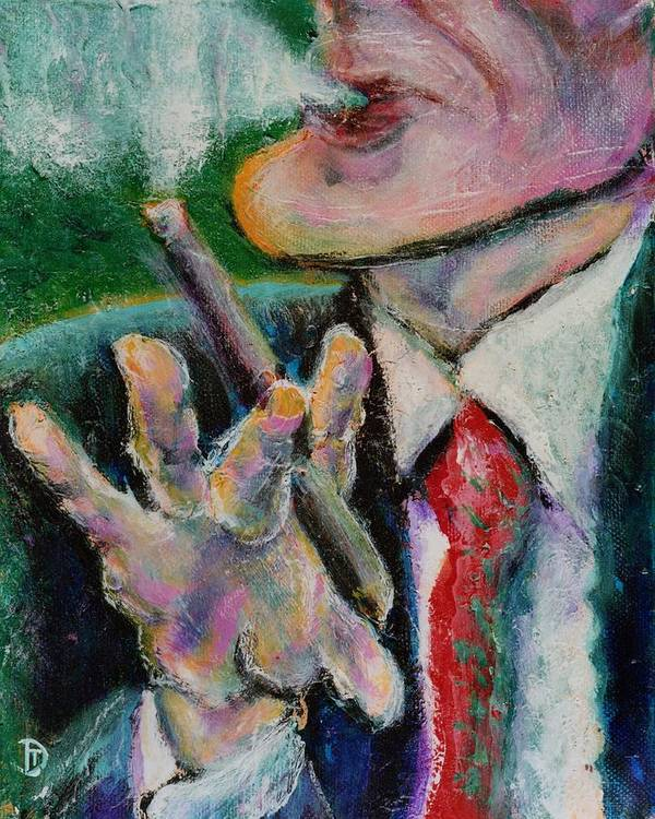 Man Art Print featuring the painting Time Out by Dennis Tawes