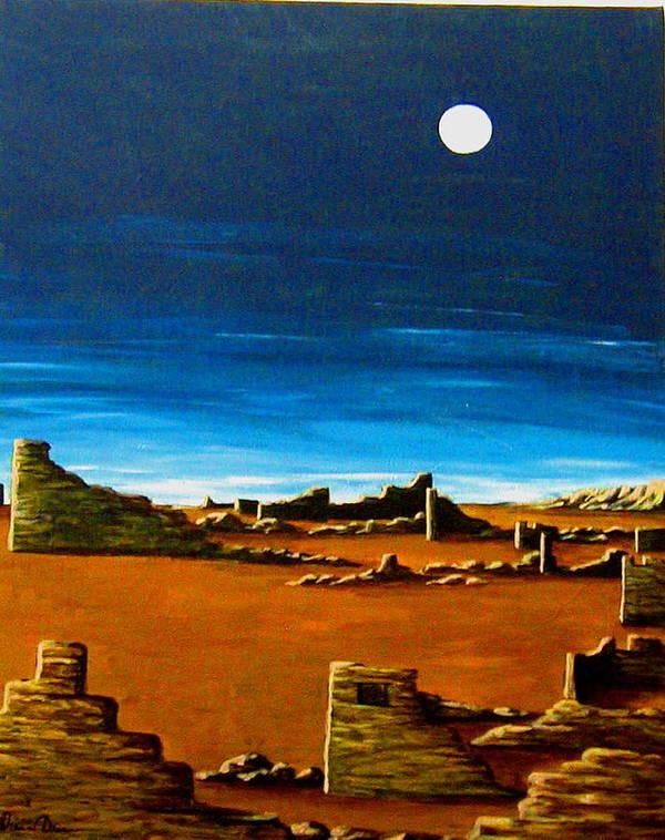 Anasazi Art Print featuring the painting Timeless by Diana Dearen