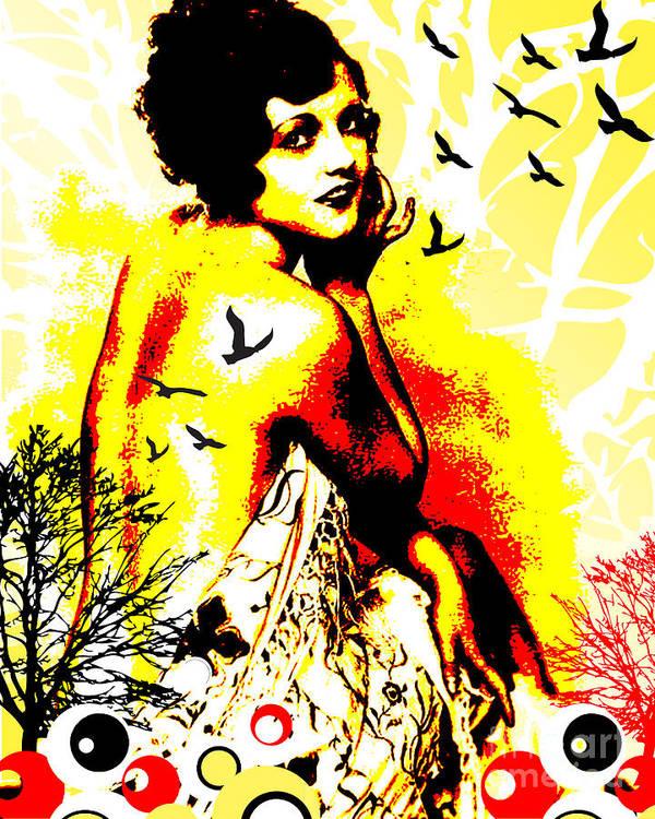 Nostalgic Seduction Art Print featuring the digital art Timeless Flight by Chris Andruskiewicz