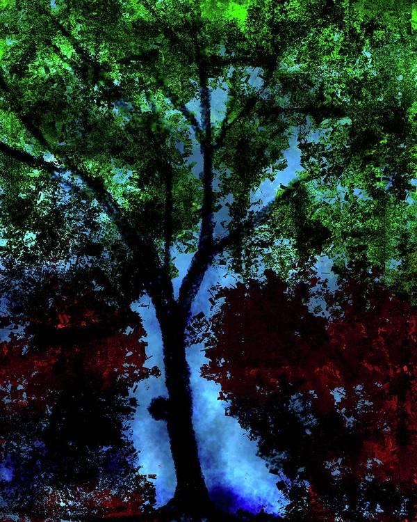 Art Print featuring the digital art Tree by Vijay Prakash