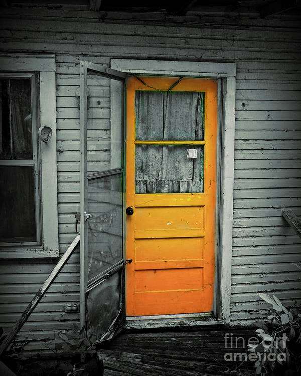 Door Art Print featuring the photograph Tuff Times by Perry Webster