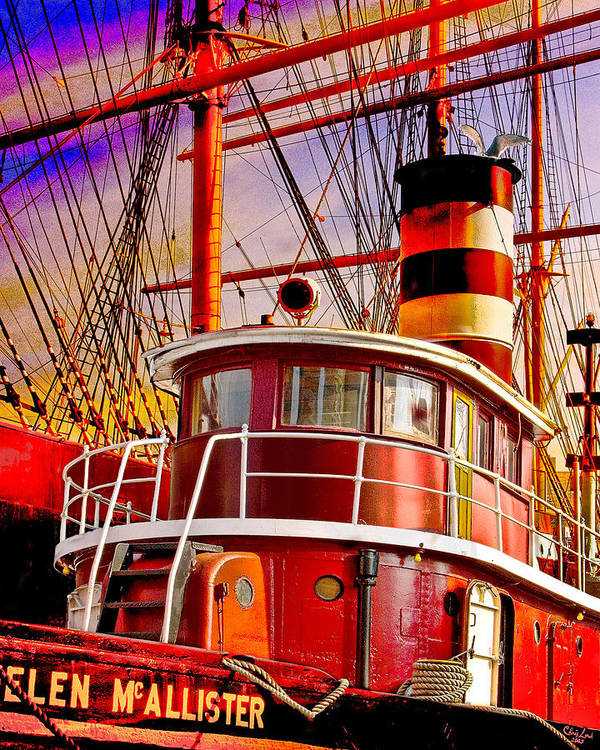 Tugboat Art Print featuring the photograph Tugboat Helen Mcallister by Chris Lord
