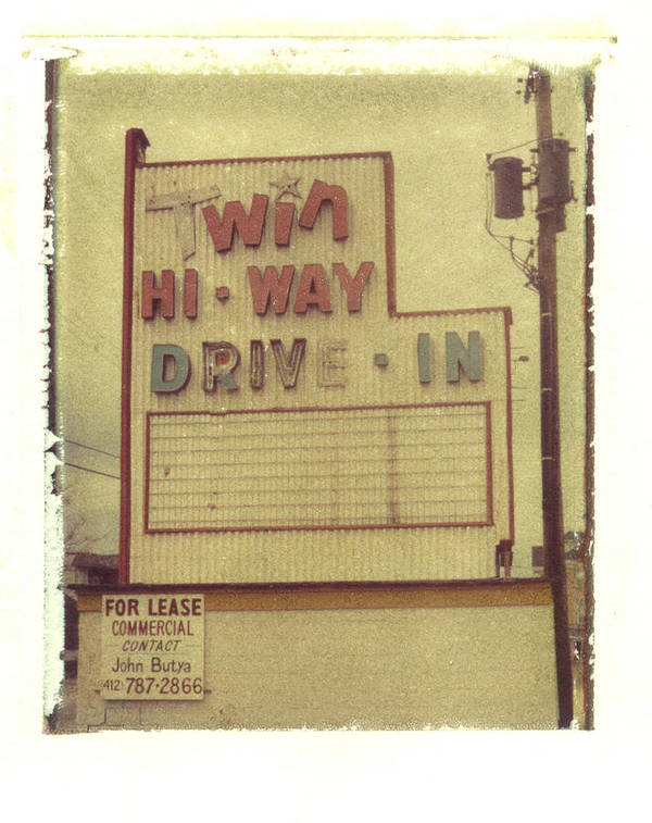 Polaroid Art Print featuring the photograph Twin Hi-way Drive-in Sign by Steven Godfrey