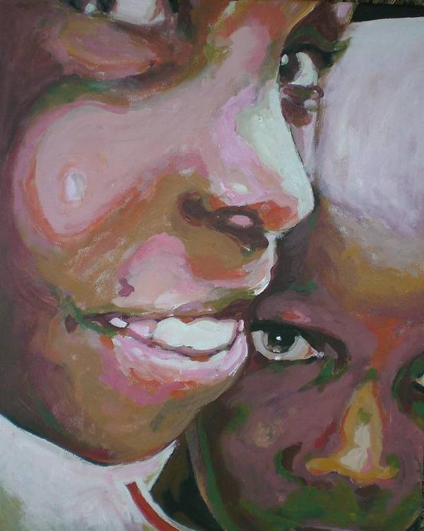 Africa Art Print featuring the painting Two Boys by Aleksandra Buha