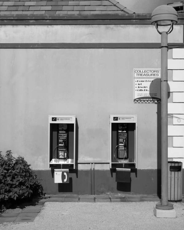 Pay Art Print featuring the photograph Two Pay Phones by Perry Webster