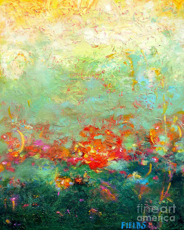 Organic Art Print featuring the painting Untitled Abstract by Karen Fields