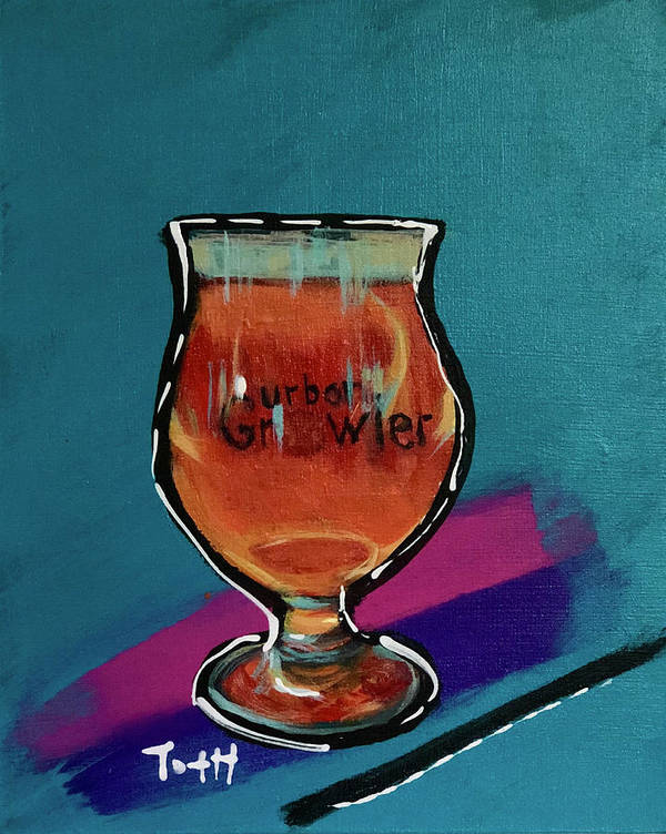 Urban Growler Art Print featuring the painting Urban Growler by Laura Toth