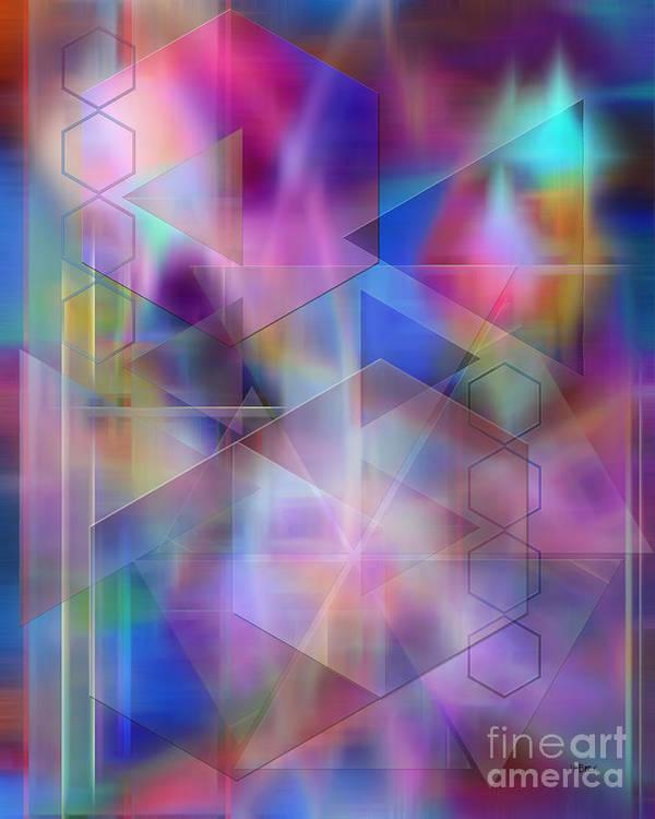 Usonian Dreams Art Print featuring the digital art Usonian Dreams by John Beck
