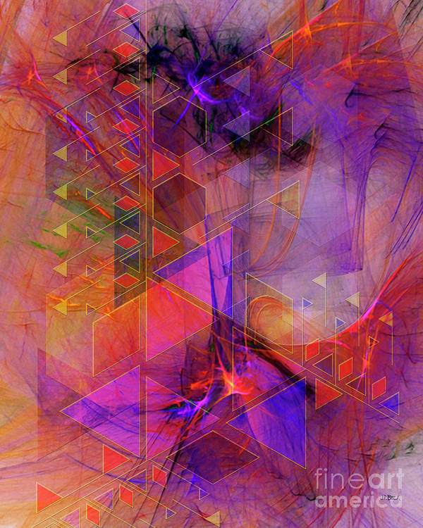 Vibrant Echoes Art Print featuring the digital art Vibrant Echoes by John Beck