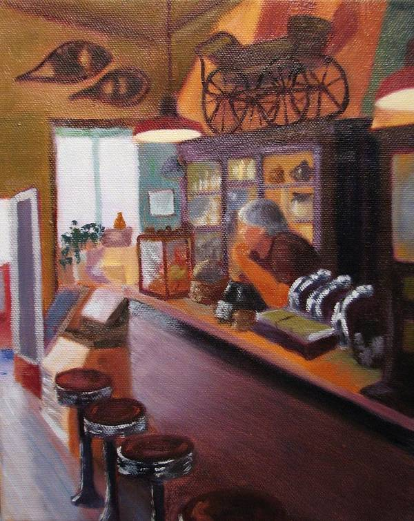 Nostalgia Art Print featuring the painting Waiting For Customers by Laura Roberts