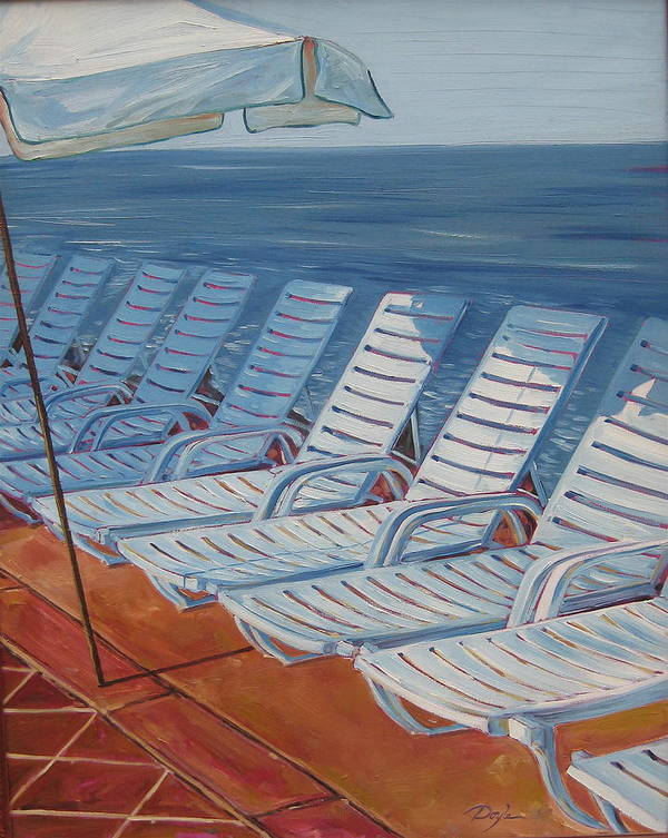 Ocean Art Print featuring the painting Wednesday Afternoon by Karen Doyle